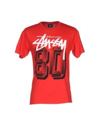 Stussy - Black T-shirt for Men - Lyst