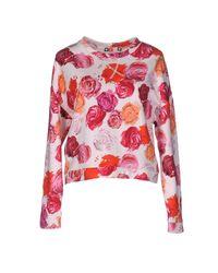 MSGM - Pink Sweatshirt - Lyst