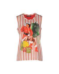 Dolce & Gabbana | Red Top | Lyst