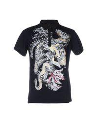 Roberto Cavalli Blue Polo Shirt for men
