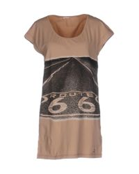 John Galliano | Brown T-shirt | Lyst