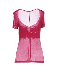 John Galliano - Pink T-shirts - Lyst