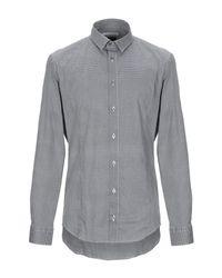 Grey Daniele Alessandrini Black Shirt for men