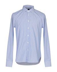 Camicia di Mp Massimo Piombo in Blue da Uomo