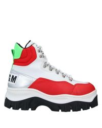 MSGM Red Ankle Boots