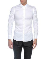 Dondup White Long Sleeve Shirt for men