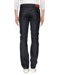 Lee Jeans Blue Denim Trousers for men