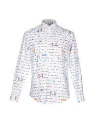 MSGM - White Shirt for Men - Lyst