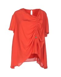 KENZO | Red Blouse | Lyst