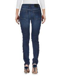 McQ Alexander McQueen Blue Denim Trousers