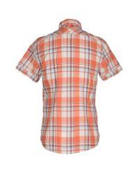 Guess - Orange Shirt for Men - Lyst
