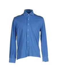 Della Ciana Blue Shirt for men