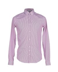 Aglini | Purple Shirt for Men | Lyst