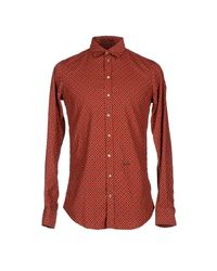 DSquared² | Red Shirt for Men | Lyst