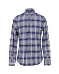 Woolrich Blue Long-sleeve Rock Pass Woven Shirt for men