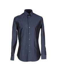 Giorgio Armani Blue Shirt for men