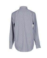 Lacoste   Blue Mini-check Long Sleeved Shirt for Men   Lyst