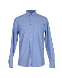 Wesc Blue Shirt for men