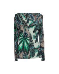 Roberto Cavalli - Green T-shirt - Lyst