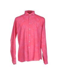 Emanuel Ungaro Pink Shirt for men