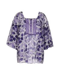 Just Cavalli | Blue Blouse | Lyst