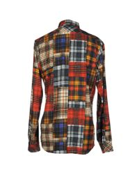 DIESEL - Red Shirt for Men - Lyst