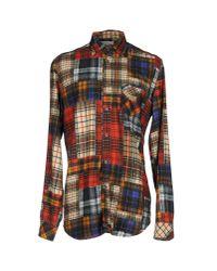 DIESEL - Red Shirt for Men - Lyst