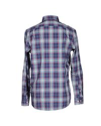 Fred Perry Blue Marl Winter Check Shirt for men