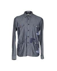 Officina 36 - Blue Shirt for Men - Lyst