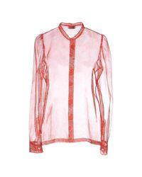 Dries Van Noten Red Shirt