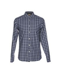 SELECTED - Blue Shirt for Men - Lyst