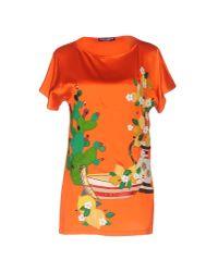 Dolce & Gabbana | Orange Blouse | Lyst
