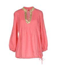 120% Lino Pink Blouse