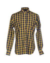 Mp Massimo Piombo - Yellow Shirt for Men - Lyst