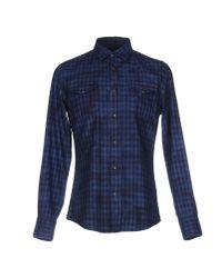 Hydrogen - Blue Shirt for Men - Lyst