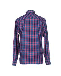 Fred Perry - Blue Shirt for Men - Lyst