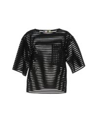 MSGM - Black Blouse - Lyst