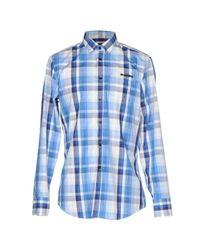 Dirk Bikkembergs | Blue Shirt for Men | Lyst