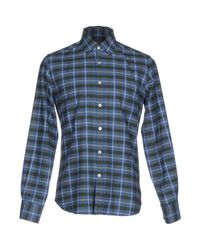 Canali - Blue Shirt for Men - Lyst