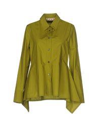Marni | Green Shirt | Lyst