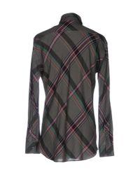 Y's Yohji Yamamoto Gray Shirt for men