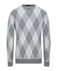 Harmont & Blaine Gray Sweater for men