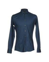 Grey Daniele Alessandrini Blue Shirt for men