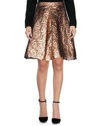 Si-jay Metallic Knee Length Skirt