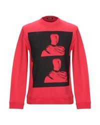 Sweat en coton imprimé Raf Simons pour homme en coloris Red