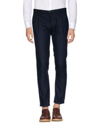 Officina 36 Blue Casual Pants for men
