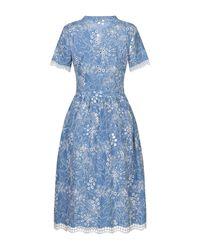 Suncoo Blue Knielanges Kleid