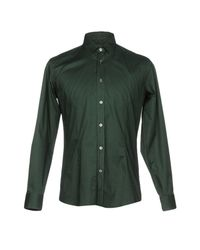 Grey Daniele Alessandrini Green Shirt for men