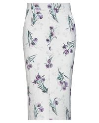 Max Mara White 3/4 Length Skirt