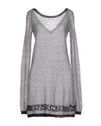 CoSTUME NATIONAL | Gray Short Dress | Lyst